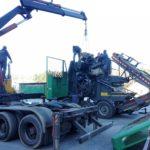 Demontaż silnika MTU z rębaka recyklera produkcji JENZ 2