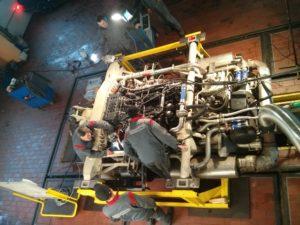 Testowanie silnika zamontowanego w zespole napędowych PowerPack